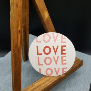 Set of 10 2-color LOVE Coasters