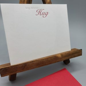 Long Distance Hug notecard set