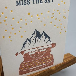 Miss You Letterpress Card