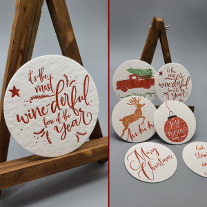 Set of 6 Christmas Coasters
