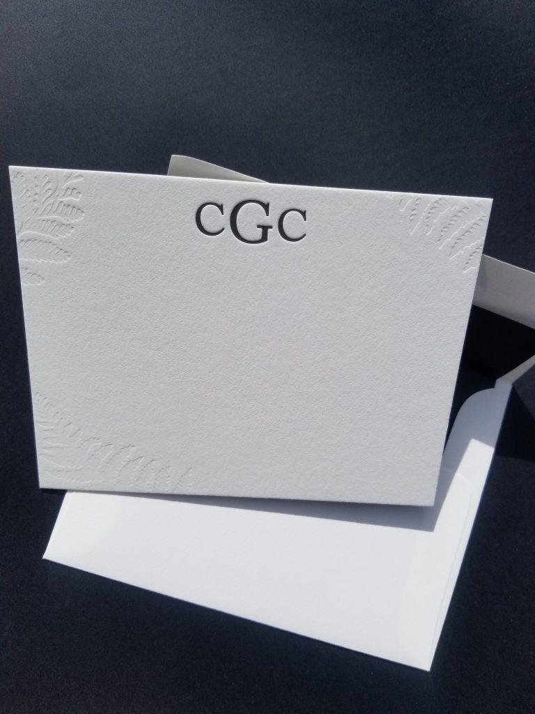 Monogram Notecard