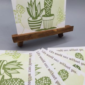 Set of 6 Succulent Postcards
