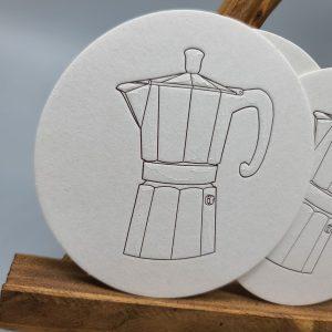 Espresso Maker Coaster Set