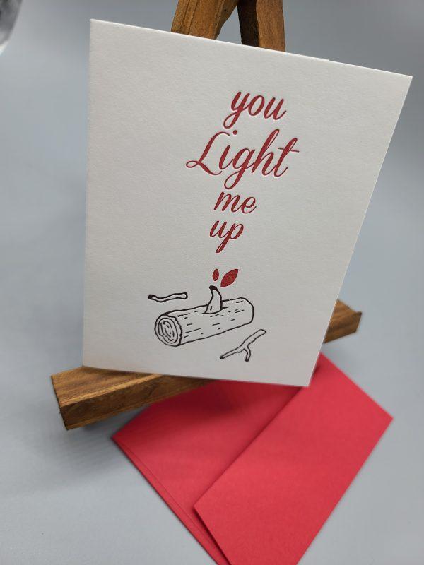 Light Me Up Valentine's Card