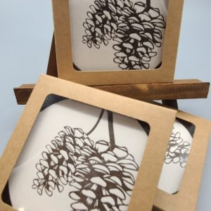 Set of 10 Pinecone Coasters