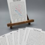 'Miss You' Word Search Postcard