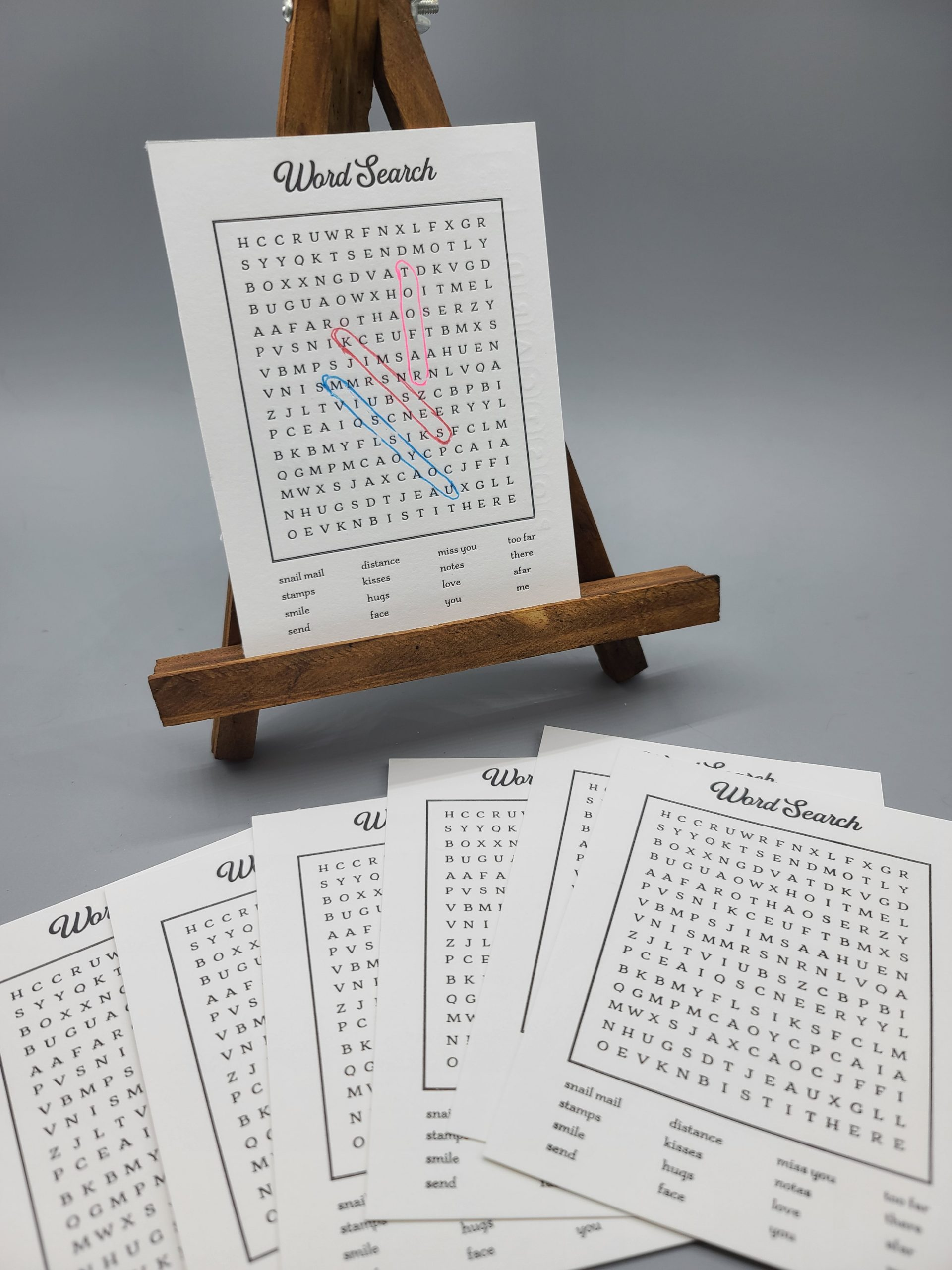 word search postcard